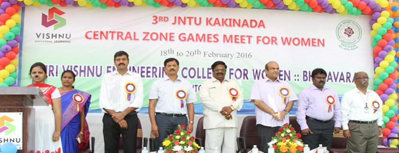 JNTUK 3rdCentral Zone Games Meet for Women.