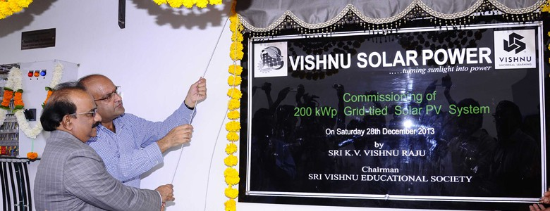 Commissioning of Vishnu 200kWp Solar Power Plant.